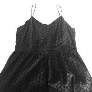 Loft black spaghetti strap midi length dress